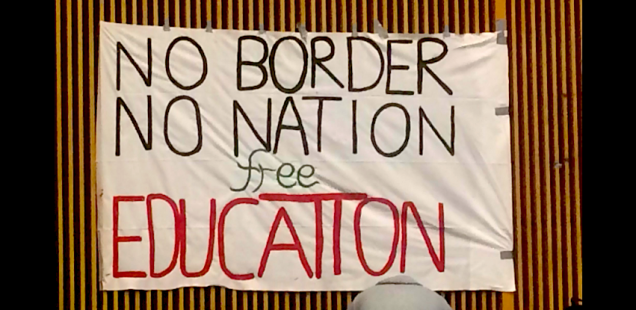 No Border, No Nation, Free Education - Transpi